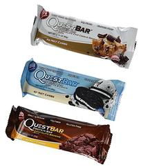 Quest Variety Pack, Chocolate Chip Cookie Dough,Cookies and