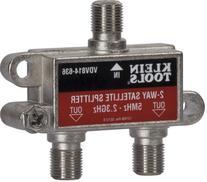 Klein Tools VDV814-636 Coax Splitter - Satellite, 2-Way,