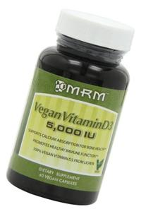 MRM - Vegan Vitamin D3, Meets Calcium & Bone Health Needs, Vegan & Vegetarian Approved