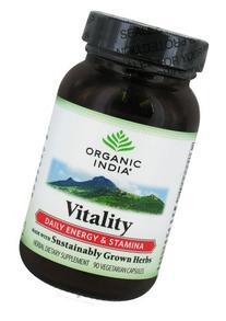 Organic India Vegetarian Capsules Vitality