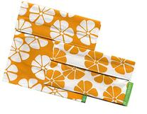 Lunchskins 2-Pack Velcro Bag Set Yellow Lily