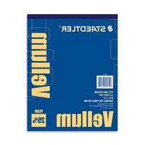 "Staedtler Vellum Paper Pad, White, Letter - 8 1/2"" x 11"