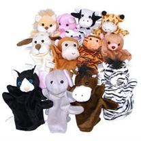 Velour Hand Puppet Animals with Arms & Legs