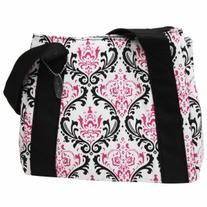 Fit & Fresh Ladies Venice Insulated Lunch Bag, Pink & Black Chandelier, 1 ea