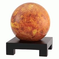 "4.5"" Venus MOVA Globe with Square Base in Black"
