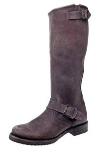 FRYE Women's Veronica Slouch Boot, Black Tumbled Full Grain