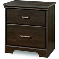 South Shore Versa 2-Drawer Nightstand, Multiple Colors