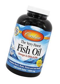Very Finest Fish Oil Lemon Flavor - Carlson Laboratories -