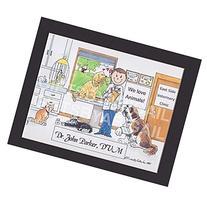 Veterinarian Gift Personalized Custom Cartoon Print 8x10,