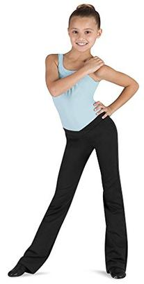 Bloch Girl's V-Front Comfort Jazz Pants 12-14 Black