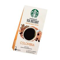 Starbucks Via Instant Coffee Packets, Colombia, 8 pk, .12 oz