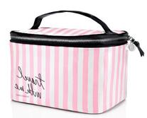 Victoria's Secret Train Case Stripe Cosmetic Case Makeup