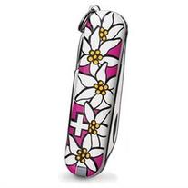 Victorinox Edelweiss Classic Pocket Knife with White Flower