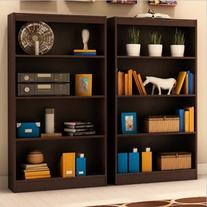 South Shore Vintage 2 Piece 4 Shelf Wall Bookcase Set in