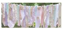 Girl Shabby Chic Garland Rag Tie Banner: ~ Shabby Banner ~
