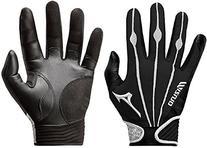 Mizuno Adult Vintage Pro Batting Gloves, Black/White, X-