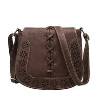 MiCoolker Vintage Bohemian Hippie Lace Up Hollow Flap Fringe