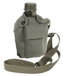 Rothco Vintage Canteen Carry, All with Shoulder Strap, OD