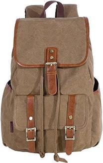 KAUKKO Vintage Canvas Backpack Denim Backpacks Rucksack