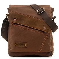Aibag Vintage Small Canvas Messenger Shoulder iPad Bags For