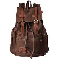 BESTOPE® Vintage Men Casual Canvas Leather Backpack