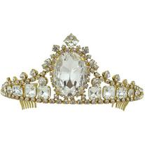Vintage Crystal Large Empress Tiara Headpiece