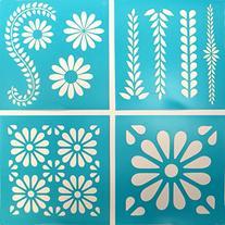 Martha Stewart Crafts Vintage Decor Stencil , 33557 Daisy