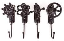 Vintage Faucet Hooks, Set of 4 - Industrial Style Décor