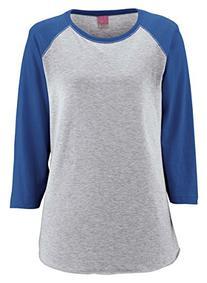 LAT Apparel Ladies 100% Cotton Baseball Jersey Tee  Vintage