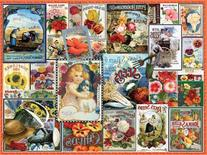 White Mountain Puzzles Vintage Flower Seeds - 550 Piece