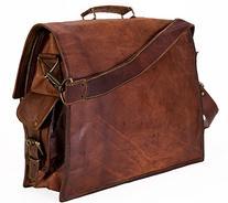"""Handolederco 15"""" Vintage Leather Messenger Soft Leather"""