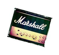 Vintage Marshall amp Guitar art music print / Guy Gift /