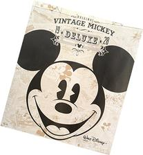 Disney Vintage Mickey Mouse Tote Bag -Large Woven Reusable