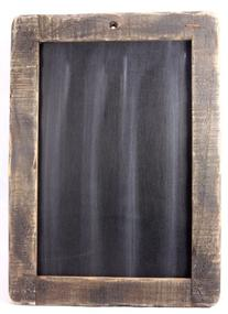 CWI Gifts Large Distressed Slate Blackboard with Stained