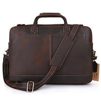 "Kattee XZ369CE-FBA Vintage Simple Look Real Leather 17"""