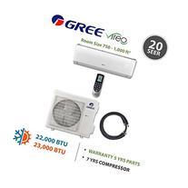 Gree VIREO 24,000 BTU Ductless Mini Split Air Conditioner w