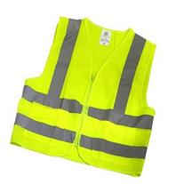 Neiko High Visibility Neon Yellow Zipper Front Safety Vest