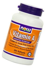 Now Foods Vitamin A, 25000 IU from Fish liver oil,  250 Soft