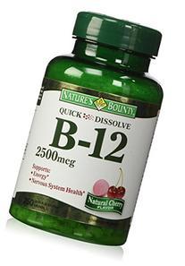 Nature's Bounty Quick Dissolve Fast Acting Vitamin B-12 2500