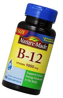 Nature Made Vitamin B-12 Value Size Softgel, 1000 mcg, 150