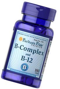 Puritan's Pride Vitamin B-Complex And Vitamin B-12-180