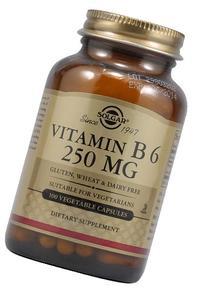 Solgar Vitamin B6 250 mg Vegetable Capsules 100