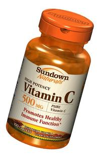 Sundown Naturals Vitamin C 500 mg Ascorbic Acid, 100 Tablets