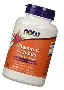 Vitamin C Crystals Ascorbic Acid 100% Pure Powder, 8 Ounces