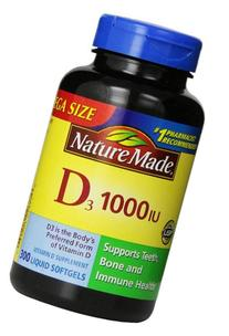 Nature Made Vitamin D3 1000 IU, Mega Size, 300-Count Liquid