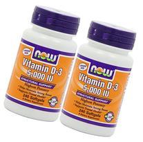 NOW Foods Vitamin D3 5000 Iu, 240-softgels