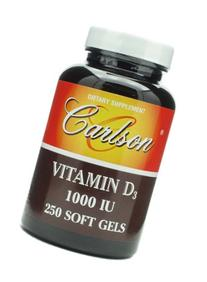 Carlson Vitamin D3,  1000 IU, 250 Softgels