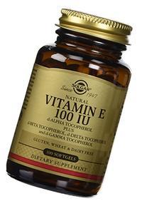 Solgar Vitamin E 100 IU Mixed D-Alpha Tocopherol and Mixed