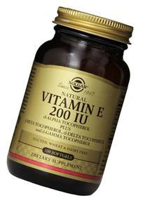 Solgar Vitamin E 200 IU Mixed Softgels D-Alpha Tocopherol