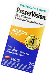 PreserVision AREDS Lutein Eye Vitamin & Mineral Supplement,
